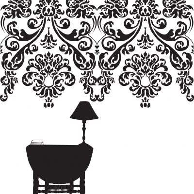 Untitled table with damask
